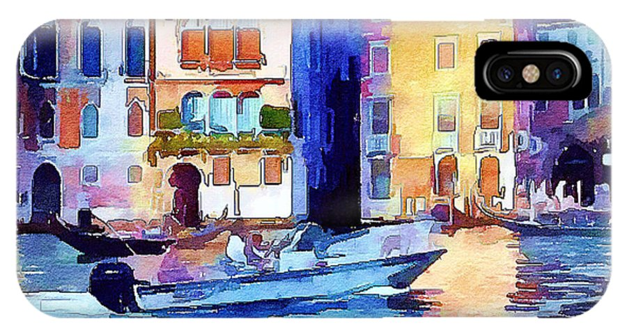 Venice IPhone X Case featuring the digital art Venice Beautiful 16 by Yury Malkov
