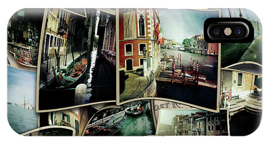Venice Hipstamatic IPhone X Case featuring the digital art Venice Hipsta by Mikael Jenei