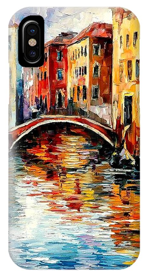 Landscape IPhone X Case featuring the painting Venice by Leonid Afremov