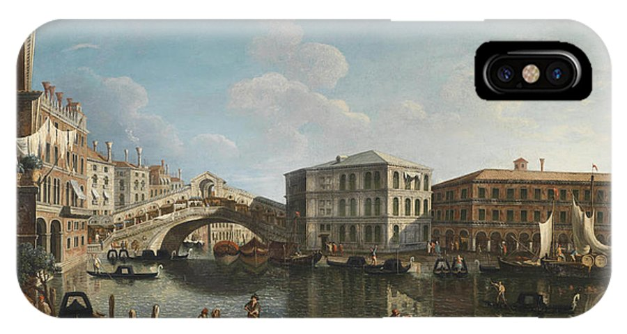 Michele Marieschi IPhone X Case featuring the painting Venice by MotionAge Designs