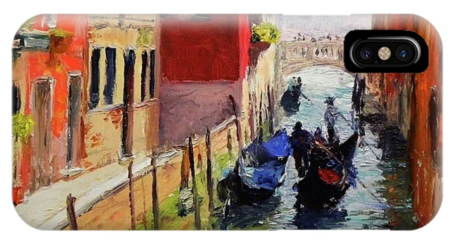 Venice IPhone X Case featuring the painting Venice by Paul Emig