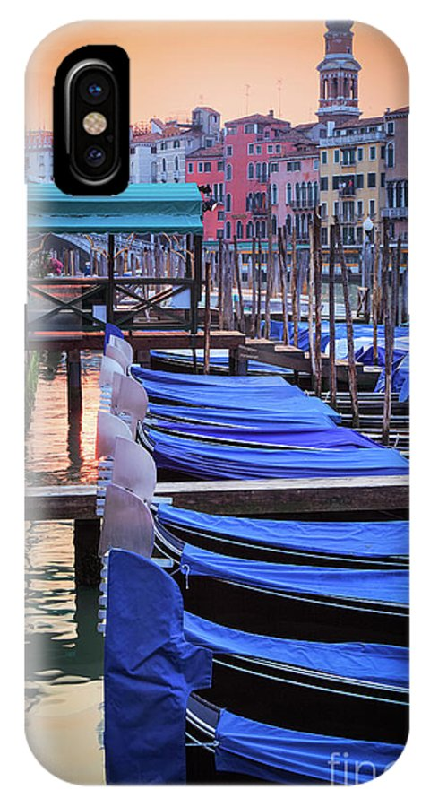 Canal Grande IPhone X Case featuring the photograph Venice Sunrise by Inge Johnsson