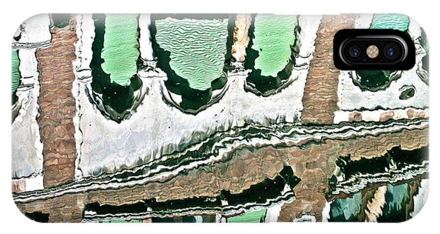 Water IPhone X Case featuring the photograph Venice Upside Down 2 by Heiko Koehrer-Wagner