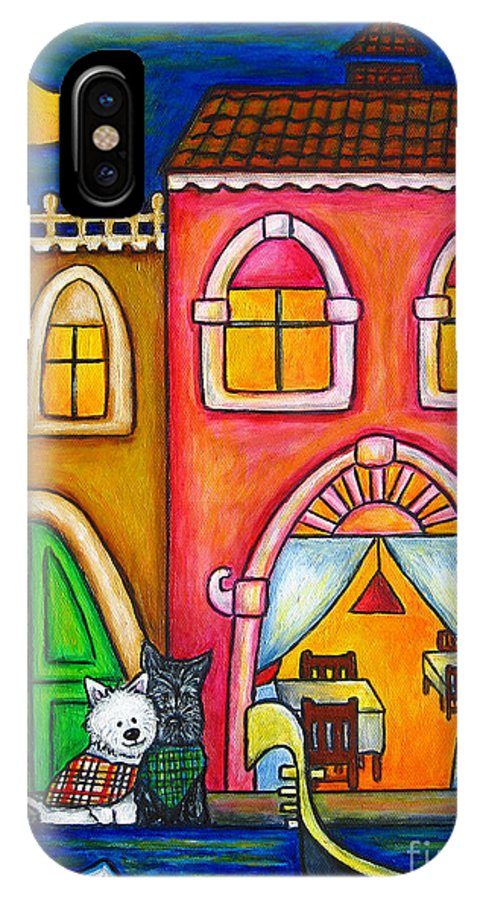 Venice IPhone X Case featuring the painting Venice Valentine by Lisa Lorenz