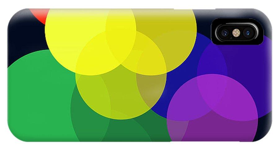 IPhone X / XS Case featuring the digital art Venn Worlds Collide by Robert J Sadler