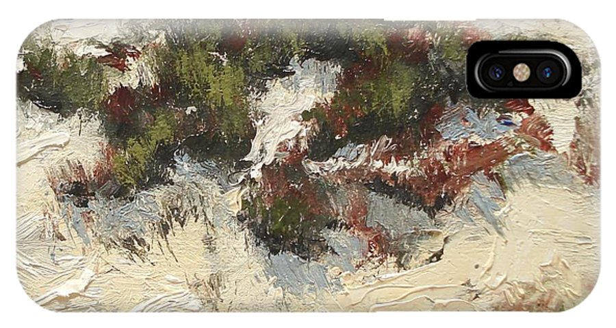 Water IPhone Case featuring the painting Ventura Dunes I by Barbara Andolsek