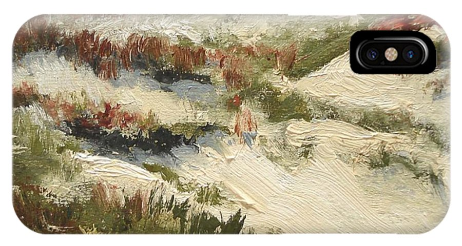Water IPhone X Case featuring the painting Ventura Dunes II by Barbara Andolsek