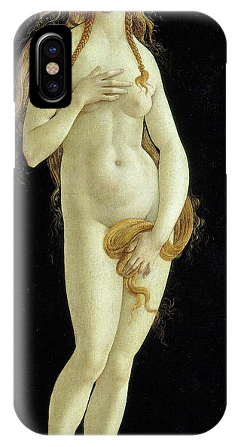 Venus IPhone X Case featuring the painting Venus by Sandro Botticelli