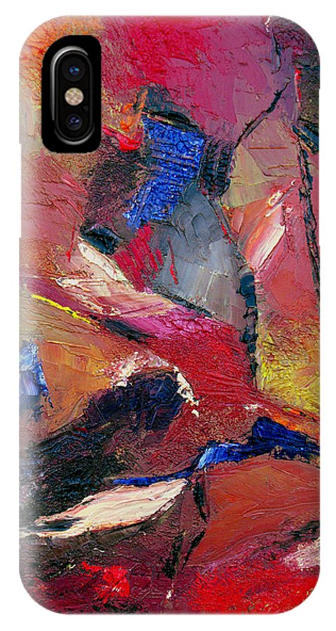 Abstract IPhone X Case featuring the painting Verily Vivacious by Ruth Palmer