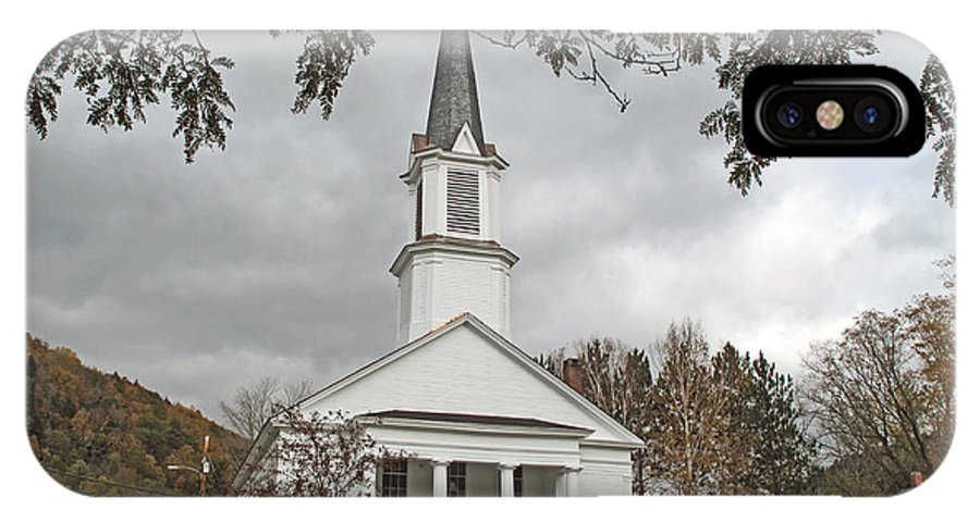 Church IPhone X Case featuring the photograph Vermont Church by Barbara McDevitt
