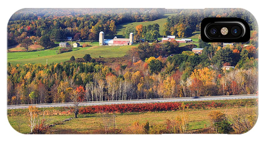 Vermont IPhone X Case featuring the photograph Vermont Countryside View Pownal by John Burk