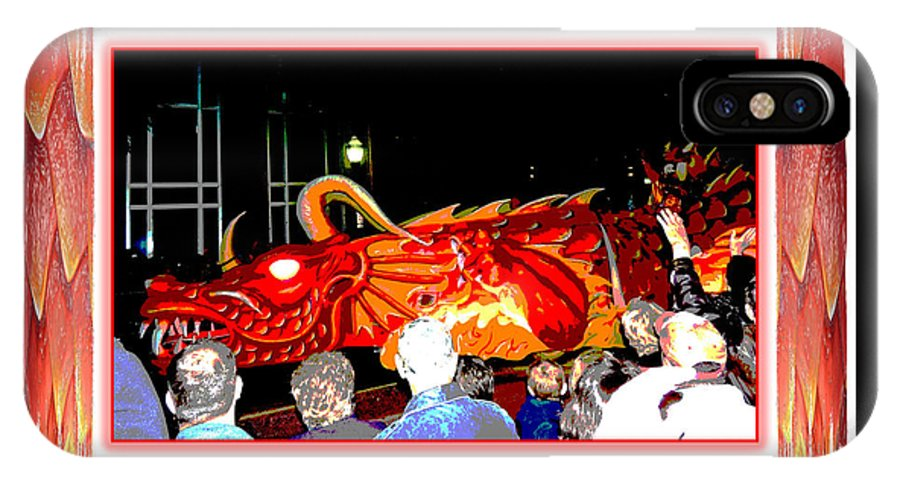 Digital Art IPhone X Case featuring the photograph Vernadean Posterized - The Mama Dragon by Marian Bell