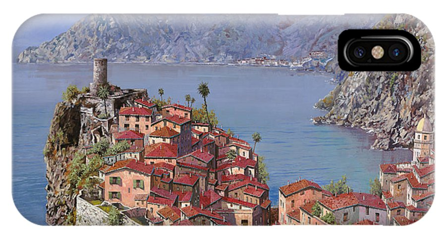 Seascapes IPhone X Case featuring the painting Vernazza-cinque Terre by Guido Borelli