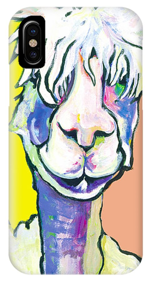 Mountain Animal IPhone X Case featuring the painting Veronica by Pat Saunders-White