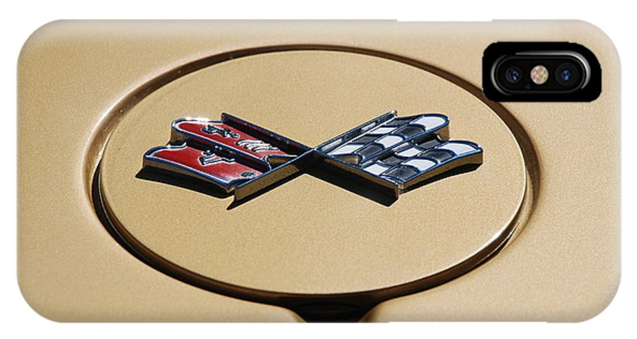 Corvette IPhone X Case featuring the photograph Vette Flags by Rob Hans