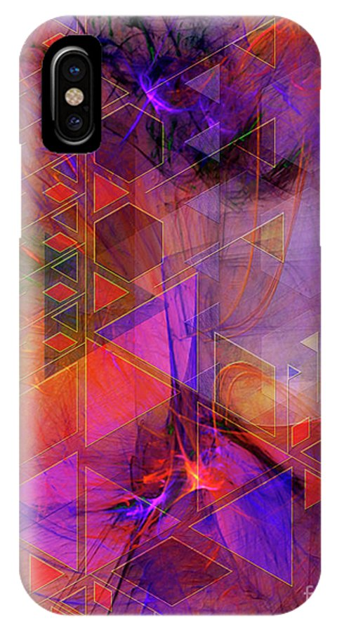Vibrant Echoes IPhone X Case featuring the digital art Vibrant Echoes by John Beck