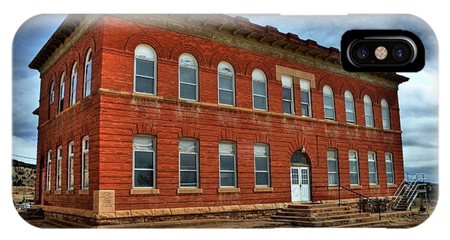 School IPhone X Case featuring the photograph Victor High School by Tony Baca