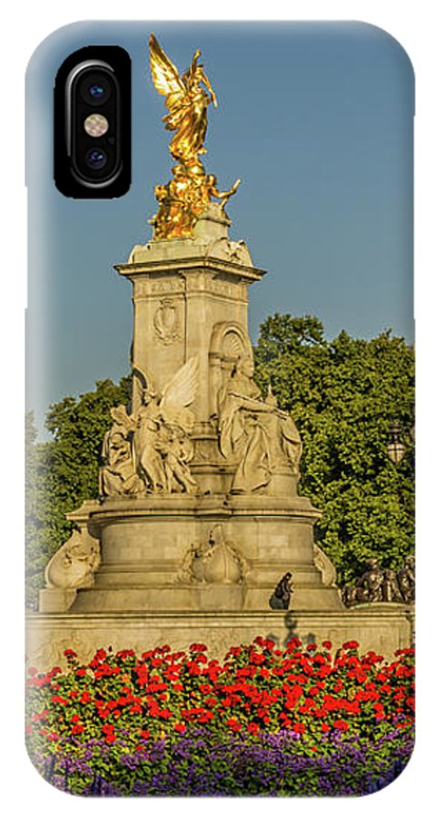 London IPhone X Case featuring the photograph Victoria Memorial, London. by Nigel Dudson