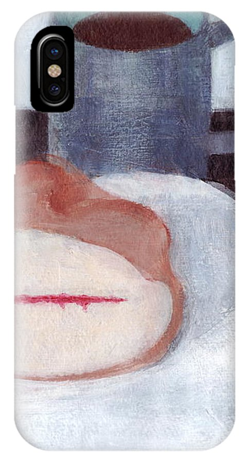 Victoria Sandwich IPhone X Case featuring the painting Victoria Sandwich by Kazumi Whitemoon