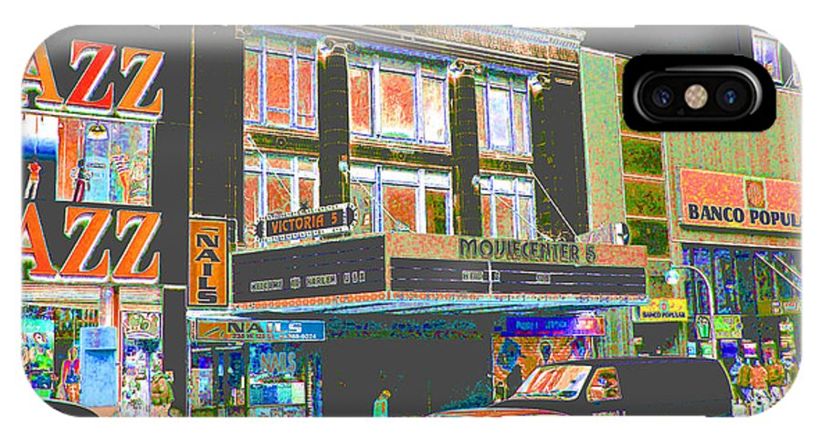 Harlem IPhone Case featuring the photograph Victoria Theater 125th St Nyc by Steven Huszar