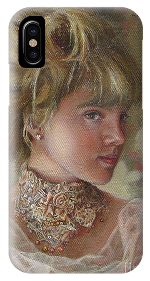Figurative Art IPhone X Case featuring the painting Victorian Beauty by Portraits By NC