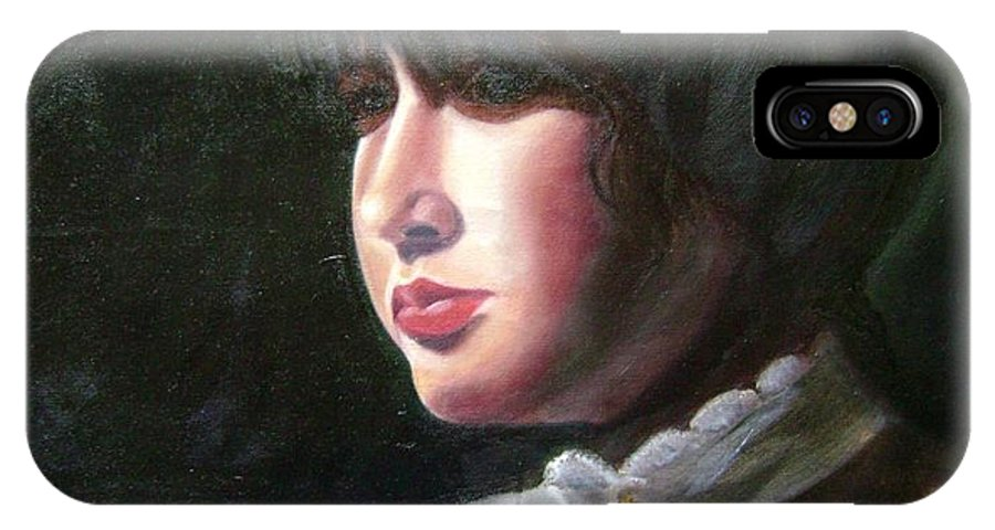 Girl In White Blouse IPhone Case featuring the painting Victorian Blouse by Toni Berry