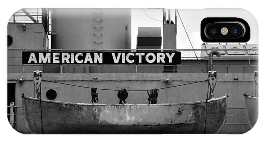 American Victory Ship IPhone X Case featuring the photograph Victory Ship by David Lee Thompson