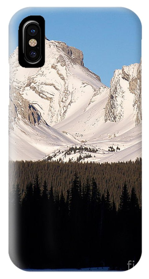 Scenic IPhone X Case featuring the photograph View From A Frozen Lake by Greg Hammond