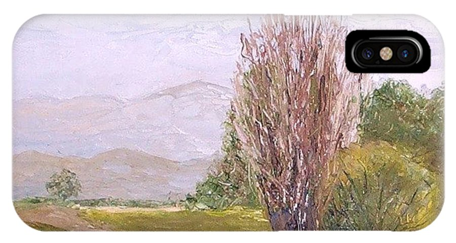 Landscape IPhone X Case featuring the painting View From Casa Galleria by Jeanie Watson