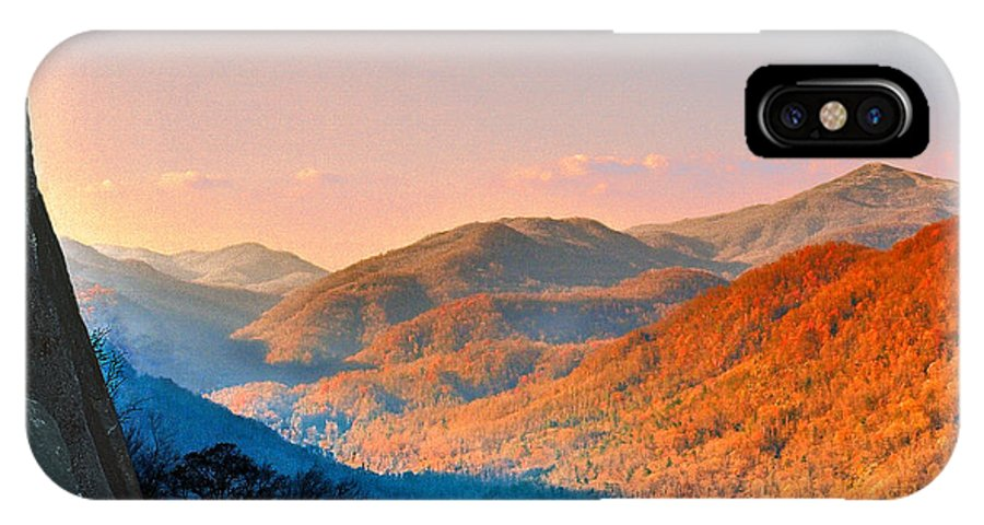 Landscape IPhone X Case featuring the photograph View From Chimney Rock-north Carolina by Steve Karol