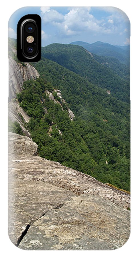 Chimney Rock IPhone X Case featuring the photograph View From Exclamation Point At Chimney Rock Nc by Anna Lisa Yoder