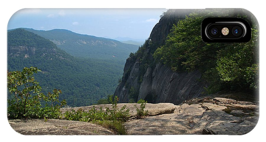 Chimney Rock IPhone Case featuring the photograph View From Hickory Nut Gorge Nc by Anna Lisa Yoder