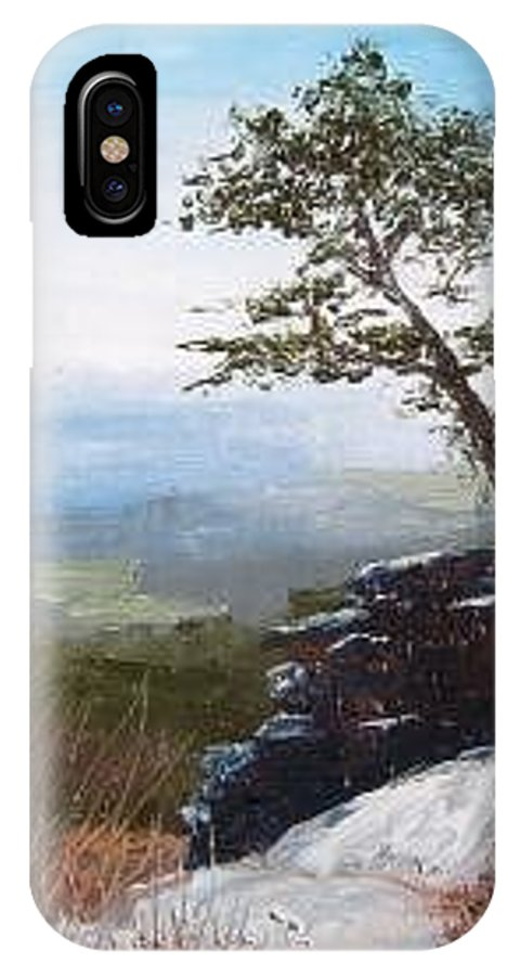 Landscape / Nature / Blue Ridge Mountains IPhone X Case featuring the painting View From Pilot Mountain by Tami Booher