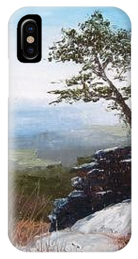 Landscape / Nature / Blue Ridge Mountains IPhone X / XS Case featuring the painting View From Pilot Mountain by Tami Booher