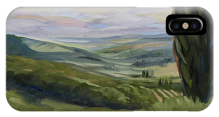 Landscape IPhone X / XS Case featuring the painting View From Sienna by Jay Johnson
