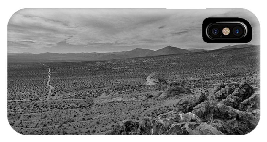 Desert IPhone X Case featuring the photograph View From The Hide-out by Scott Schwartz