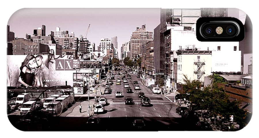 New York IPhone X Case featuring the photograph View From The Highline by Ariane Moshayedi