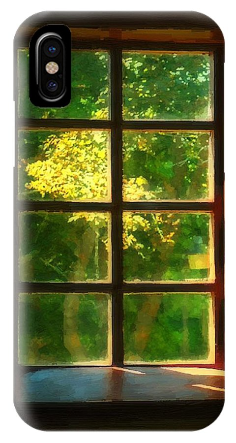 Autumn IPhone X Case featuring the painting View From The Orwell Corner Church by RC DeWinter