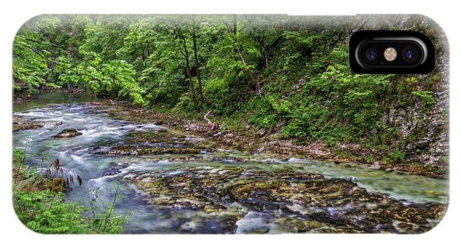 Slovenia IPhone X Case featuring the photograph View In Vintgar Gorge - Slovenia by Stuart Litoff