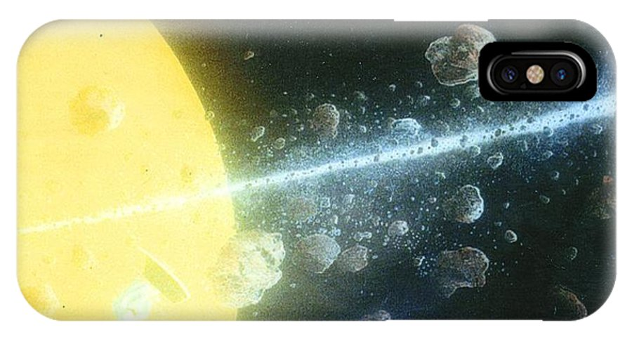 Spacescape IPhone X Case featuring the painting View Master by A Robert Malcom