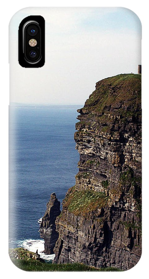 Irish IPhone X Case featuring the photograph View of Aran Islands and Cliffs of Moher County Clare Ireland by Teresa Mucha