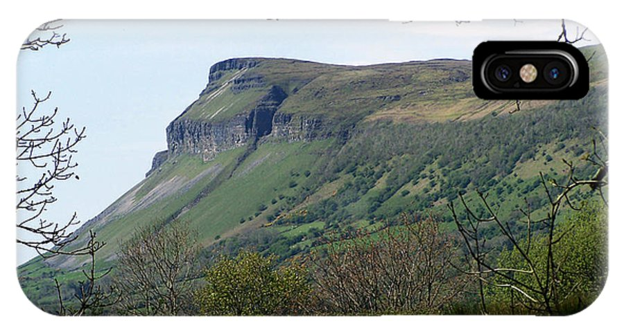 Irish IPhone X Case featuring the photograph View Of Benbulben From Glencar Lake Ireland by Teresa Mucha