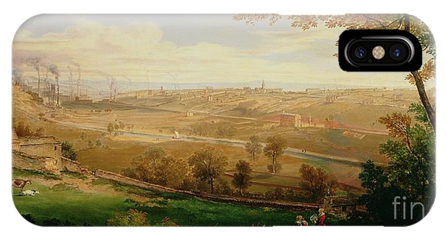 View IPhone X Case featuring the painting View Of Bradford by William Cowen
