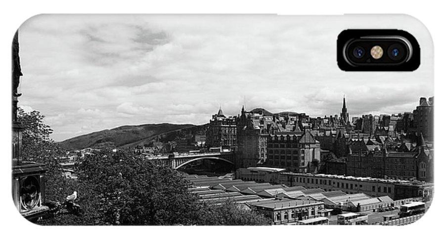 Church IPhone X Case featuring the photograph View Of Edinburgh by Martina Fagan