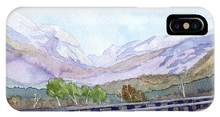 Franconia Notch IPhone X Case featuring the painting View Of Franconia Notch by Sharon E Allen