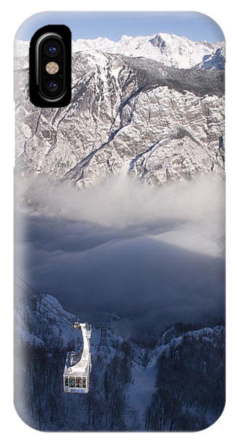 Winter IPhone X Case featuring the photograph View Of Julian Alps From Vogel Mountain by Ian Middleton