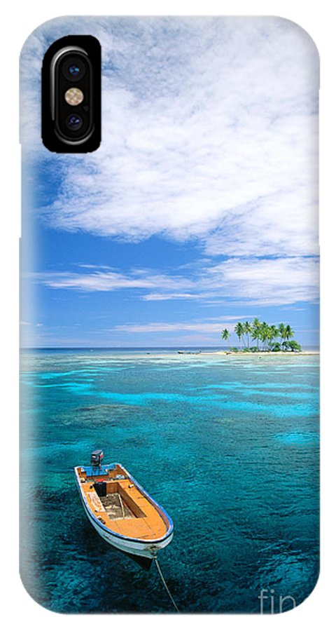 Blue IPhone X Case featuring the photograph View Of Micronesia by Rick Gaffney - Printscapes