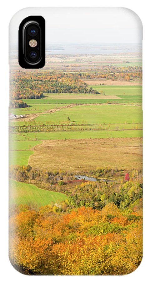 Champlian Lookout IPhone X Case featuring the photograph View Of Ottawa Valley In Autumn 13 by Bob Corson