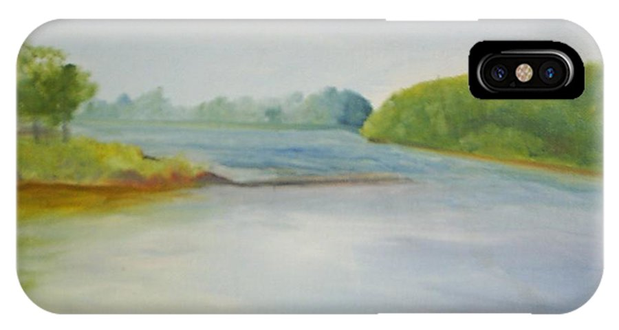 Delaware River IPhone X Case featuring the painting View of the Delaware by Sheila Mashaw