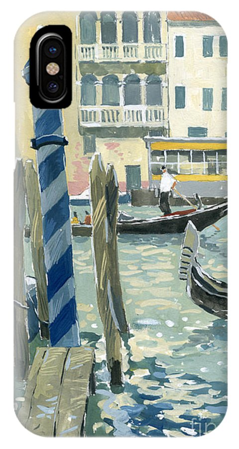 Painting IPhone X Case featuring the painting View Of The Grand Canal In Venice by Sakurov Igor
